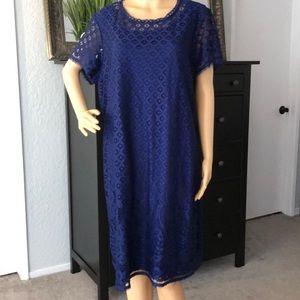 Blue Lace Dress by Isaac Mizrahi-1x